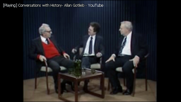 Conversations with History, Allan Gotlieb on Berkeley 30 years later