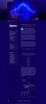 "Free ""Blue House"" WordPress Theme for Christmas"