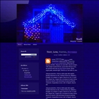 "Free ""Blue House"" Blogger Theme for Christmas"