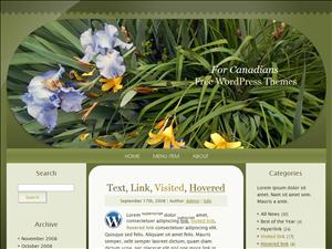 Irises Among Lilies, Taupe, Oval