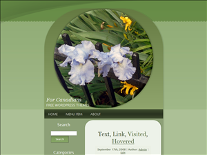 Irises and Hostas in a Circle Silvery Green Free WordPress Theme