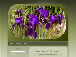 Purple Irises Oblong Oval
