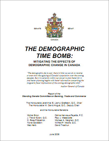 The Demographic Time Bomb – Special Senate Report, Chaired by Jerahmiel S. Grafstein