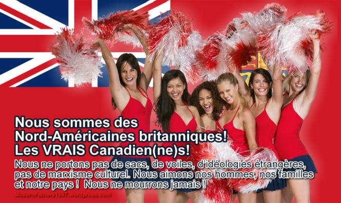 Nous sommes des Nord-Américaines britanniques!