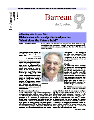 Jacques Attali, exclusive English translation