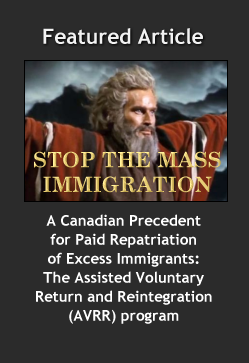 A Canadian Precedent for Paid Repatriation of Excess Immigrants:
