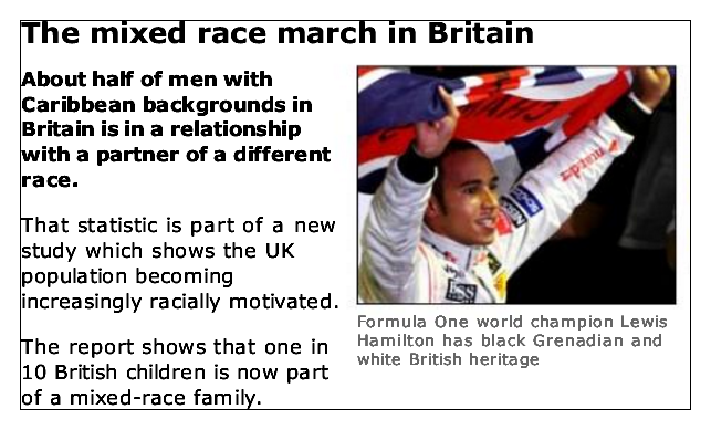 The Mixed-race March in Britain