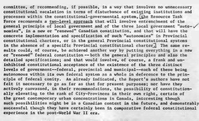 "Federation of Canadian Municipalities (FCM) April 1980 wants ""City-Provinces""."