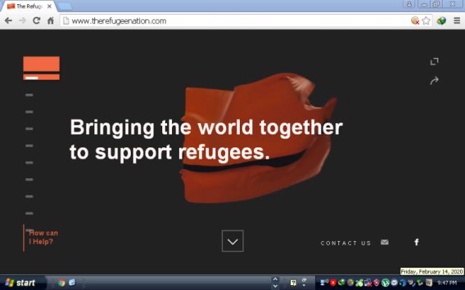 Le drapeau de «Refugee Nation» flotte actuellement en ligne.