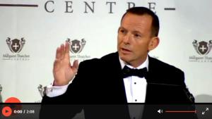 Tony Abbott, PM, Australie, met en garde contre «une vague d'humanité qui déferle sur l'Europe». Télécharger la video.