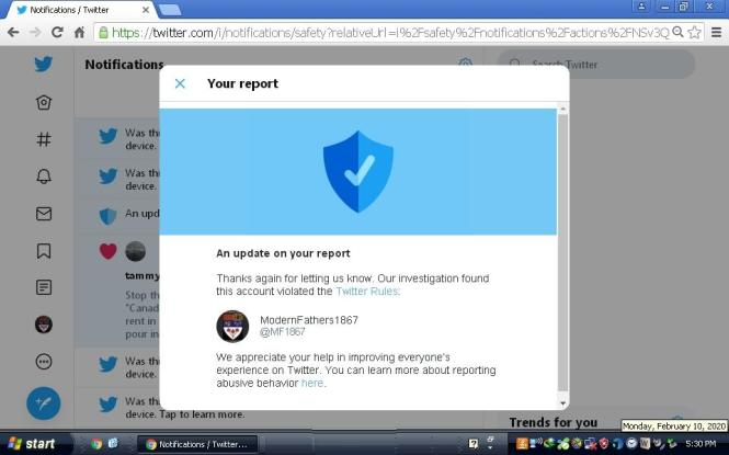 Twitter pretends the ALLIANCE demanded its own suspension!